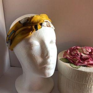 Hairband-- Mustard Yellow and Gray
